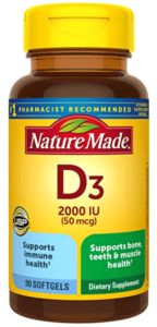 Nature Made Vitamin D3 Supplements